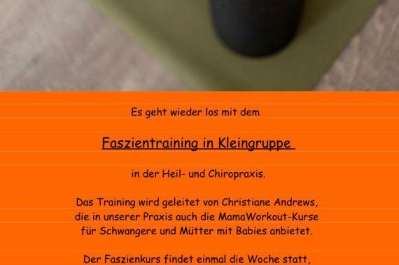 Heilpraxis Hamburg Faszientraining: neue Gruppe jeden Mittwoch